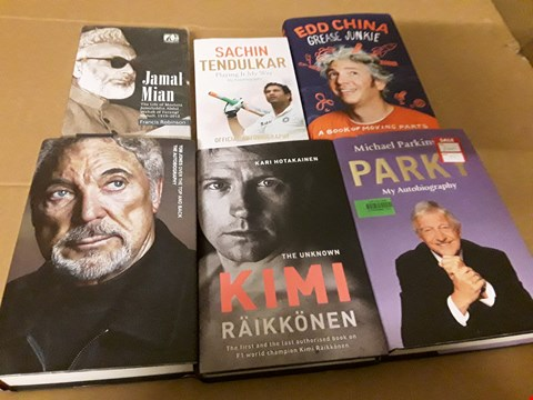 Lot 252 LOT OF 6 ASSORTED CELEBRITY BOOKS TO INCLUDE KIMI RAIKKONEN AND TOM JONES THE AUTOBIOGRAPHY