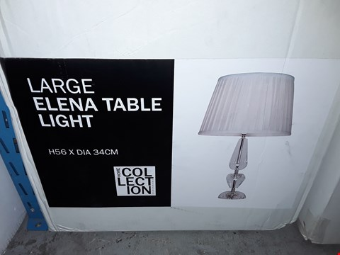 Lot 375 BOXED HOME COLLECTION LARGE ELENA TABLE LIGHT