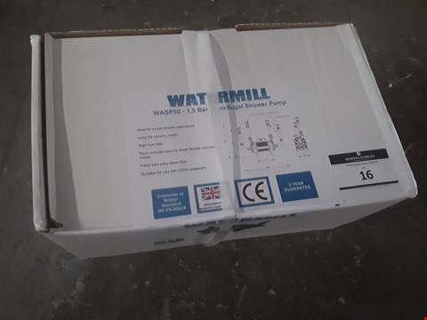 Lot 18 BOXED WATERMILL WASP50 1.5 BAR CENTRIFUGAL SHOWER PUMP  RRP £108