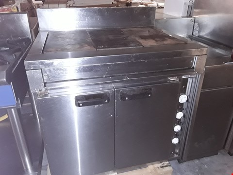 Lot 50 COMMERCIAL STAINLESS STEEL SOLID TOP ELECTRIC COOKER