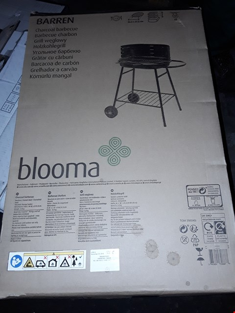 Lot 3094 BLOOMA BARREN CHARCOAL BARECUE  RRP £70.00