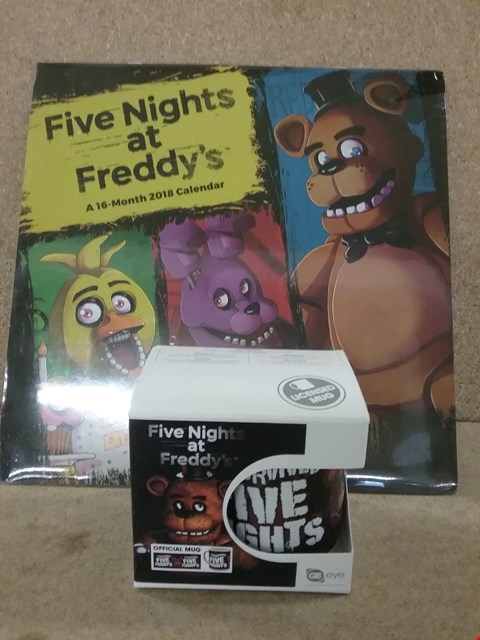 Lot 355 2 BRAND NEW ITEMS TO INCLUDE FIVE NIGHTS AT FREDDY'S MUG AND CALENDAR