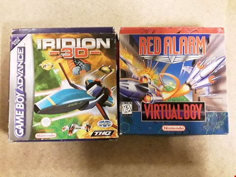 Lot 6148 LOT OF 2 ASSORTED NINTENDO ITEMS TO INCLUDE IRIDION 3D FOR GAME BOY ADVANCE AND RED ALARM FOR VIRTUAL BOY