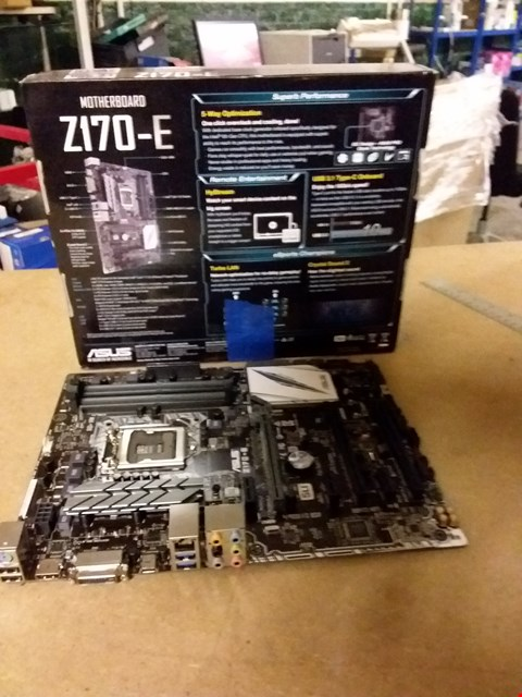 Lot 849 ASUS Z170-E INTEL Z170 DDR4 ATX MOTHERBOARD - BLACK/GREY