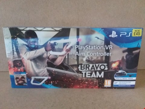 Lot 1 BRAND NEW BOXED PLAYSTATION VR AIM CONTROLLER + BRAVO TEAM FOR PS4