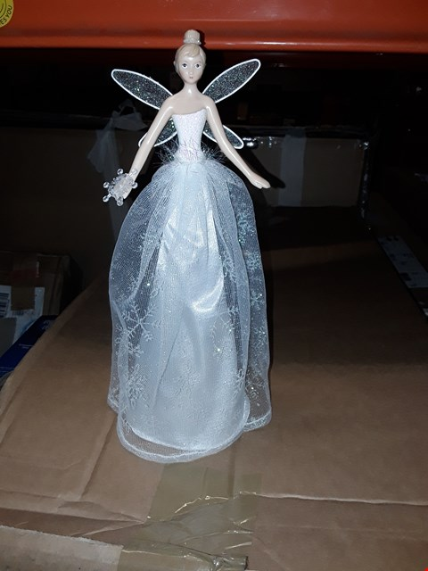 Lot 427 GISELA GLITTER TREE TOP FAIRY AND PERSONALISED BRANDY GLASS RRP £45