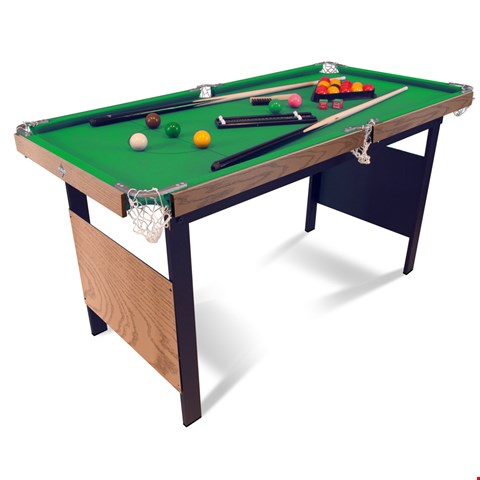 Lot 731 BOXED HY-PRO 4FT6 FOLDING SNOOKER TABLE RRP £169.99