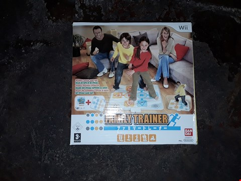 Lot 9076 2X FAMILY TRAINERS FOR NINTENDO WII