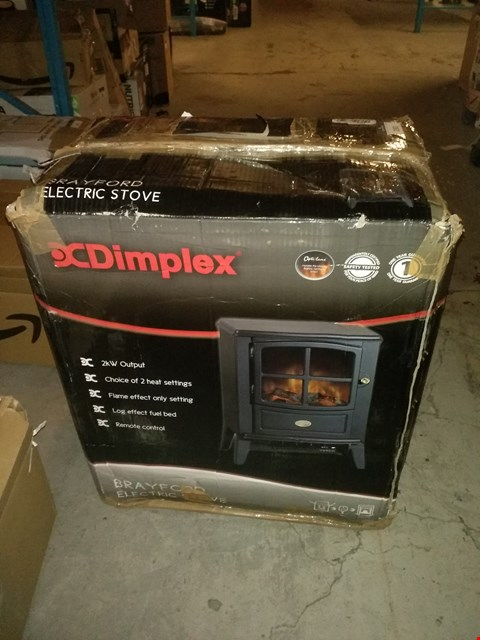 Lot 2381 DIMPLEX CLUB ELECTRIC STOVE WITH OPTIFLAME EFFECT