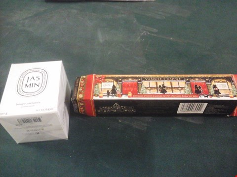 Lot 1070 BOXED YANKEE CANDLE AND BOXED JASMIN SCENTED CANDLE