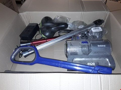 Lot 13853 BOX OF ASSORTED VACUUM PARTS