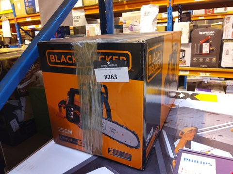 Lot 8263 BLACK AND DECKER CHAINSAW
