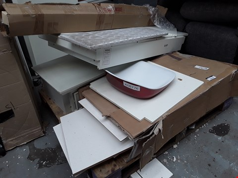 Lot 12026 PALLET OF ASSORTED FURNITURE PARTS