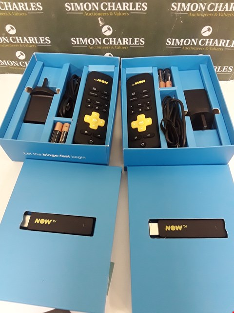 Lot 215 TWO BOXED NOW TV SMART STICKS