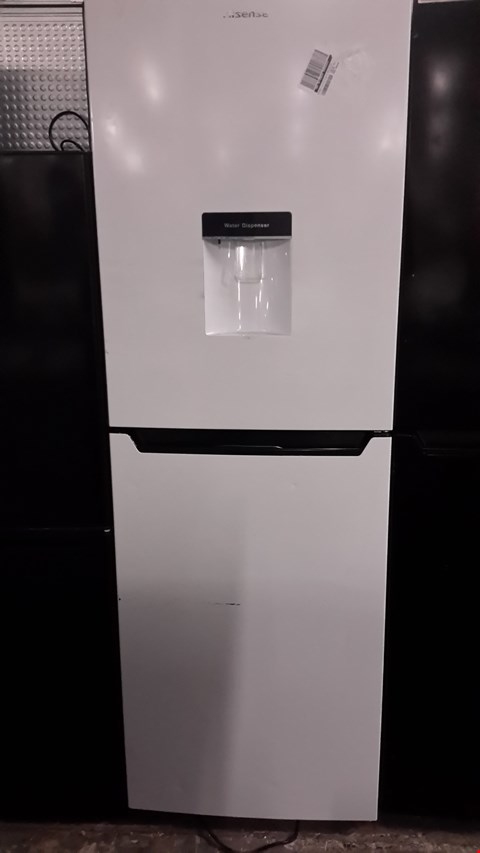 Lot 68 HISENSE WHITE FRIDGE FREEZER WITH WATER DISPENSER RB320D4WW1 RRP £249