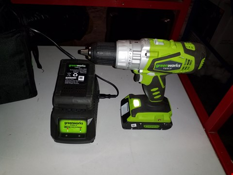 Lot 14110 GREENWORKS 24V CORDLESS COMBI DRILL