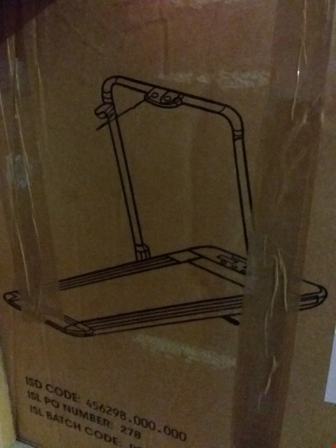 Lot 13813 BOXED LINEAR PREMIUM FOLDABLE WALKING TREADMILL