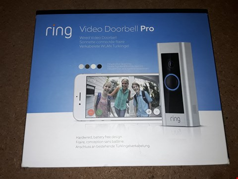 Lot 8044 BOXED RING VIDEO DOORBELL PRO