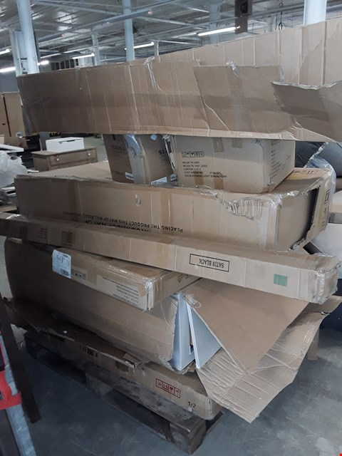 Lot 160 PALLET OF ASSORTED FLAT PACK FURNITURE PARTS