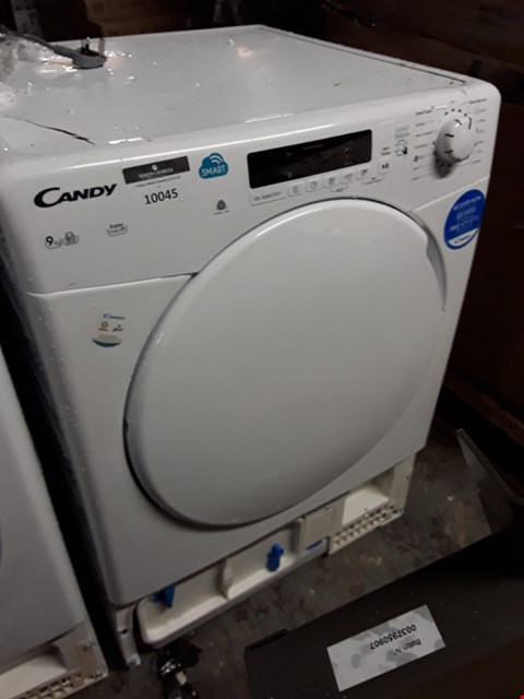 Lot 10045 CANDY SMART TOUCH 8KG CONDENSER DRYER IN WHITE