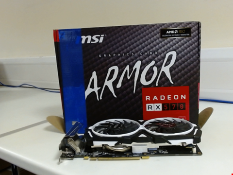 Lot 15171 MSI AMD RADEON RX 570 ARMOR 8G FAN FH PCI EXPRESS GRAPHICS CARD