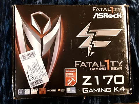 Lot 30 BOXED ASROCK FATAL1TY Z170 GAMING K4 MOTHERBOARD.