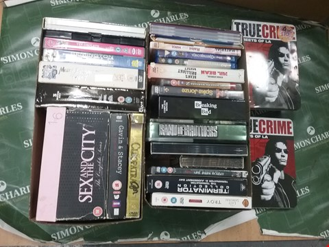 Lot 12014 A BOX OF APPROXIMATELY 21 ASSORTED DVD/BOXSETS TO INCLUDE A SEX AND THE CITY DVD AND A BAND OF BROTHERS DVD