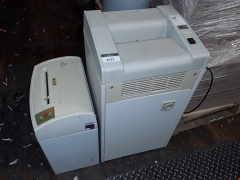 Lot 4632 LOT OF 2 LARGE OFFICE PAPER SHREDDERS TO INCLUDE DAHLE 20600M AND DREXEL 160 AUTO