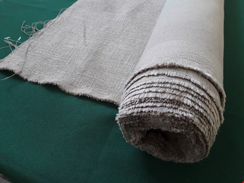 Lot 2033 ROLL OF BEIGE WEAVE FIRE RETARDANT MATERIAL APPROXIMATELY 140cm × SIZE UNSPECIFIED