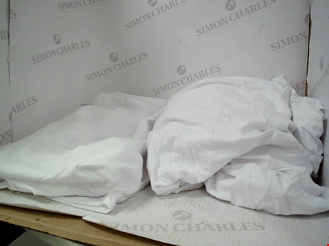 Lot 1328 A BOX OF ASSORTED PLAIN PILLOW CASES