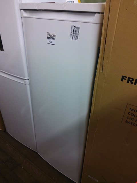 Lot 7048 SWAN WHITE TALL LARDER FRIDGE SR8140W RRP £179.99