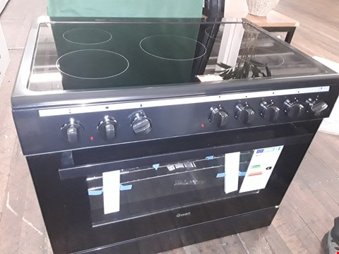 Lot 69 SWAN SX2050B BLACK ELECTRIC RANGE COOKER WITH DOUBLE OVEN & CERAMIC HOB  RRP £630