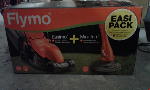 Lot 7753 GRADE 1 BOXED  FLYMO EASIMO LAWNMOWER + MINI TRIM RRP £110.00