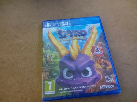 Lot 2572 PS4 SPYRO REIGNITED TRILOGY GAME