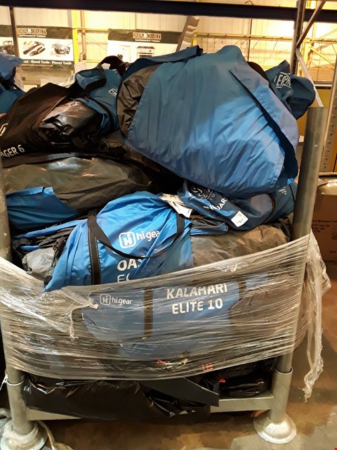 Lot 36 PALLET OF ASSORTED HIGEAR TENTS & PORCHES
