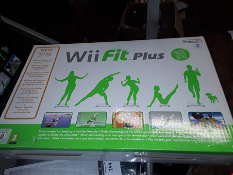 Lot 292 BOXED WII FIT PLUS + WII BALANCE BOARD