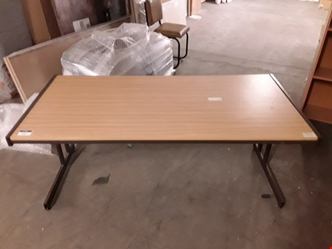 Lot 253 METAL FRAMED WOODEN OFFICE DESK