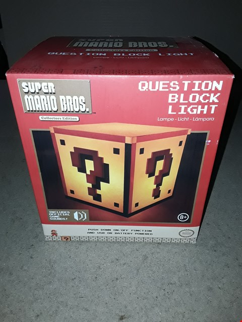 Lot 169 BOXED BRAND NEW SUPER MARIO BROS. QUESTION BLOCK LIGHT