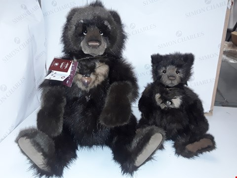 Lot 644 BRAND NEW CHARLIE BEAR BIG RON AND LITTLE RON SET