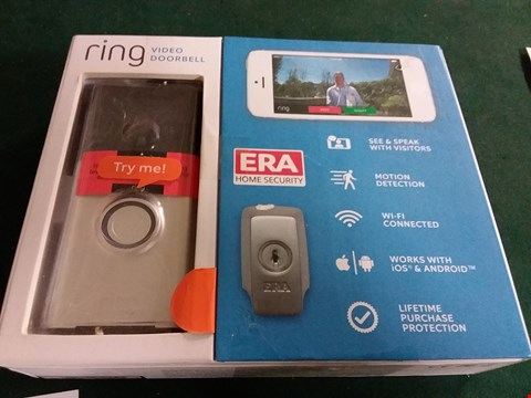 Lot 392 BOXED RING WIFI VIDEO DOORBELL (LOT 1)