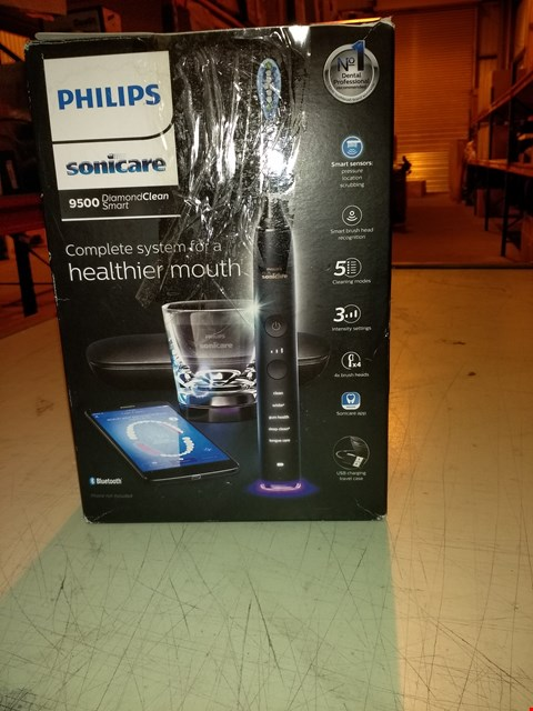 Lot 6604 PHILIPS SONICARE 9500 DIAMOND CLEAN SMART