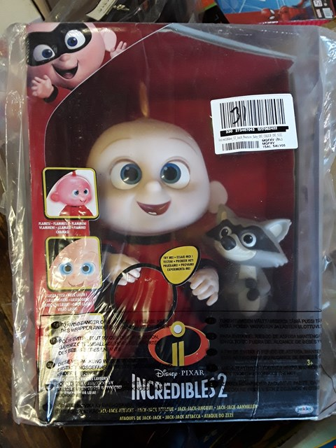 Lot 6313 2 GRADE 1 ITEMS TO INCLUDE DISNEY THE INCREDIBLES 2 JACK JACK ATTACKS DOLL AND 1000 MULTI FUNCTION BRIGHT WHITE LIGHTS RRP £86