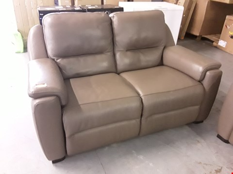 Lot 123 QUALITY DESIGNER ITALIAN AVOLO OLIVE LEATHER LOUNGE SUITE COMPRISING POWER RECLINING 3 AND 2 SEATER SOFAS, FIXED 2 SEATER SOFA AND FOOTSTOOL