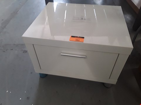 Lot 382 DESIGNER MAXI HIGH GLOSS SINGLE DRAWER BEDSIDE CHEST RRP £120