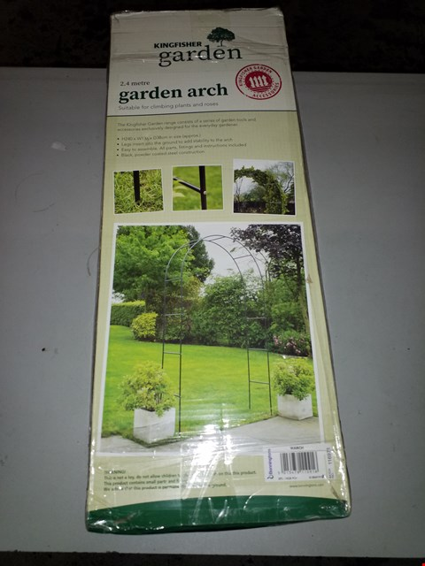 Lot 13993 LOT OF 3 KINGFISHER 2.4  EDGE GARDEN ARCH