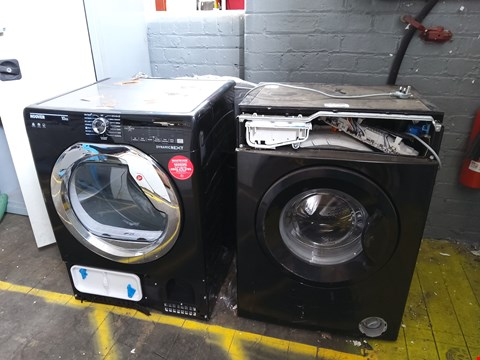 Lot 91 THREE ASSORTED DAMAGED KITCHEN ITEMS TO INCLUDE: CHEST FREEZER, WASHER AND DRYER