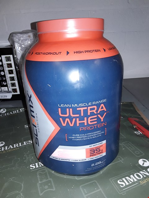 Lot 12221 SCI MX 100 ULTRAGEN WHEY PROTEI STRAWBERRY HIGH PROTEIN