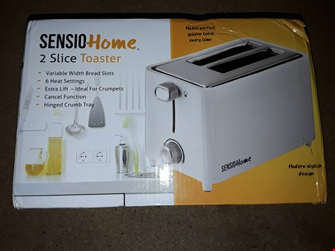 Lot 8043 SENSIO HOME 2 SLICE TOASTER