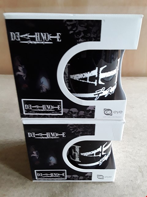 Lot 21 2 BRAND NEW BOXED DEATHNOTE MUGS