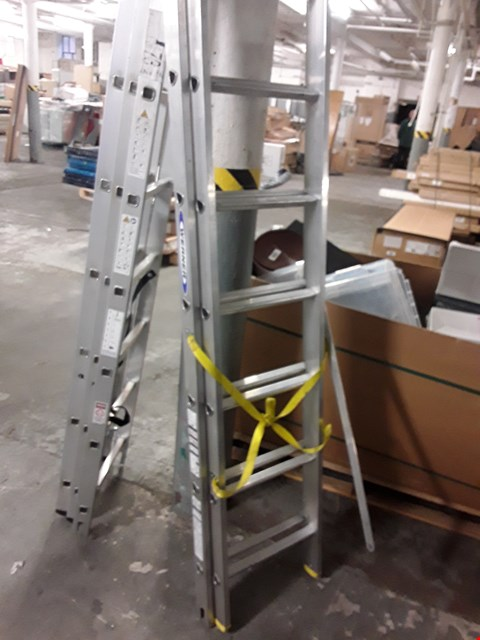Lot 26 WERNER 2 SECTION ALUMINIUM LADDER